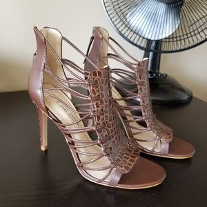 Zara strappy heels New